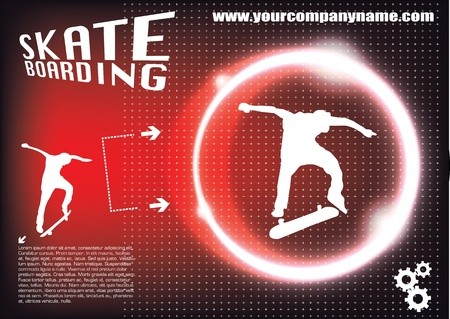 skateboarder: futuristic skateboarding background