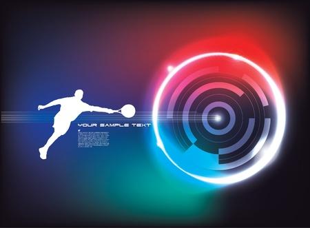 futuristic tennis background  Vector