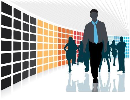 business discussion: equipo de negocios