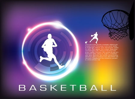 basketball ball on fire: basketball vector