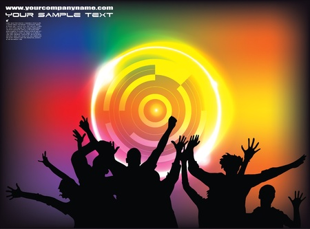 disco party background Stock Vector - 12062604