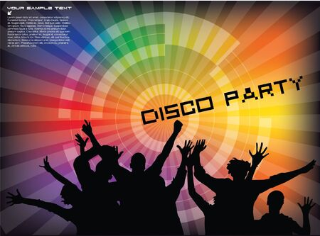 disco party background Stock Vector - 12062236