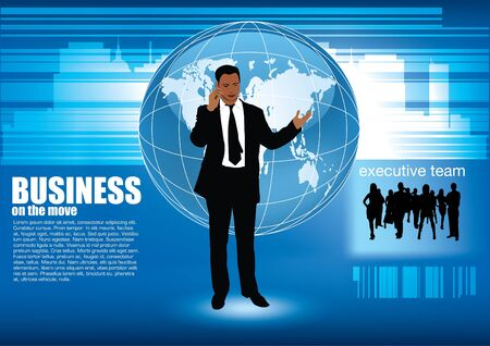 businessman abstract background  Vector