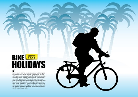 traveling by bike Stock Vector - 12236784
