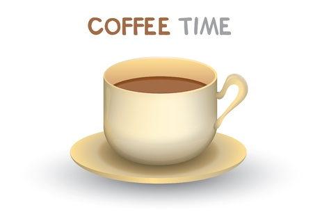 coffee time vector  Vector