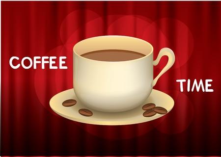 coffee time vector  Vector