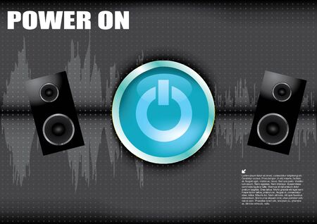 power on button background  Vector