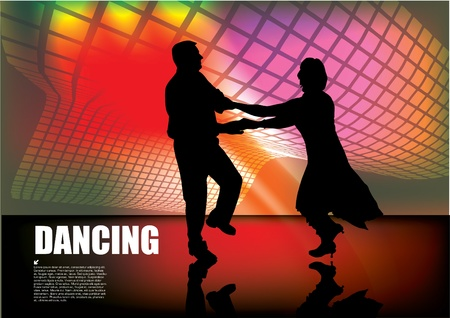 dancing couple background  Vector