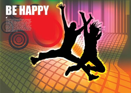 happy people background  Vector
