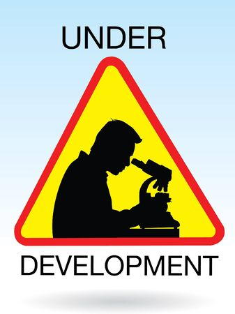 science development sign  Vector