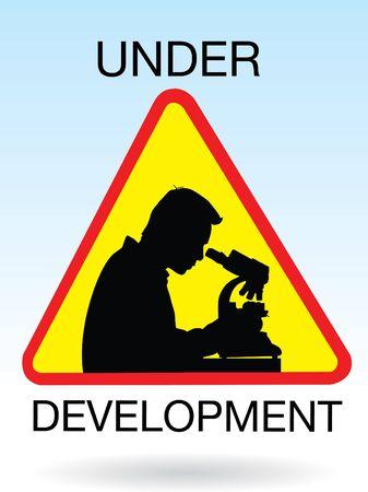 microbiologist: science development sign  Illustration