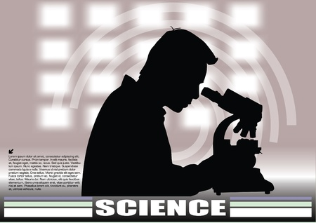 scientist in laboratory background  Stock Vector - 12236802
