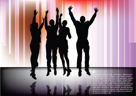 jumping happy people background