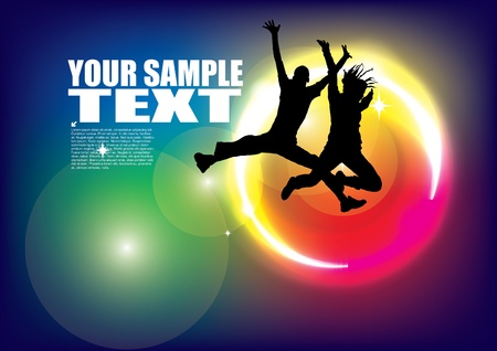 dynamic people background  Vector
