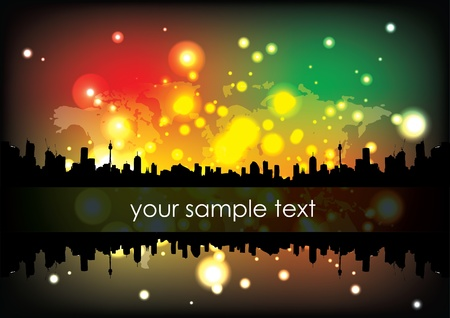 abstract city background Stock Vector - 12486019