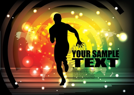body fat: running man background