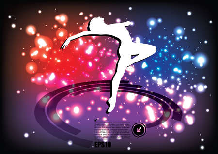magic ballet background  Vector
