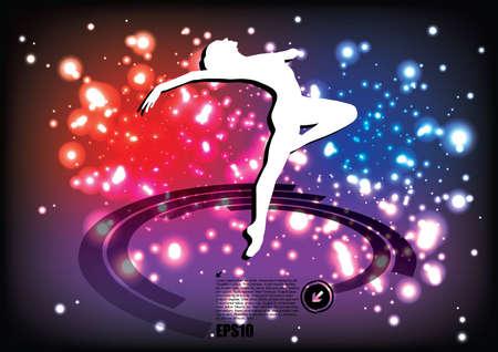 modern dancer: magic ballet background Illustration