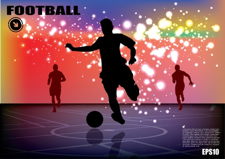 soccer player background Stock Vector - 12763839