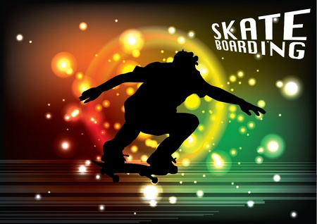 skateboarding background  Vector