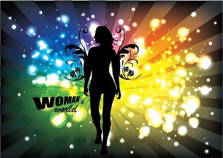 angel woman on abstract background Stock Vector - 13280967