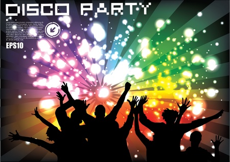 Party poster  Vector illustration  Eps10
