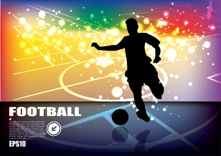 soccer player background  Vector