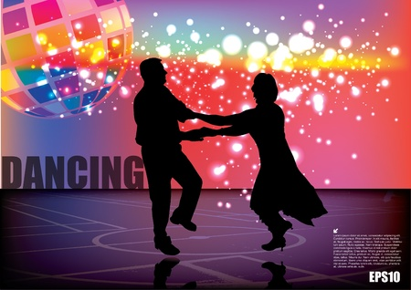 latin dancer: dancing couple background