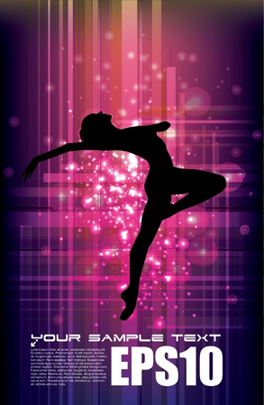 dancer on magic background  Illustration