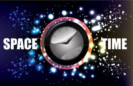 magic clock background Stock Vector - 13567483