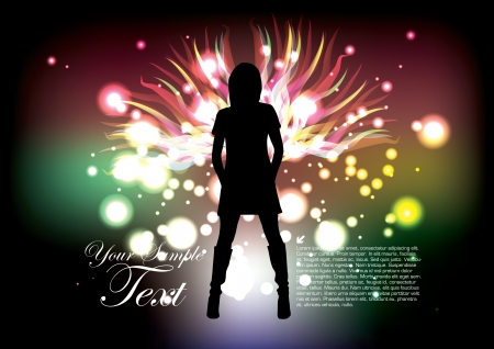 angel woman on abstract background  Vector