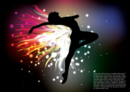 flexible woman: magic ballet background