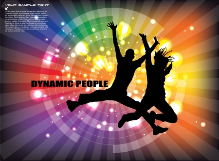 dynamische mensen achtergrond Stock Illustratie