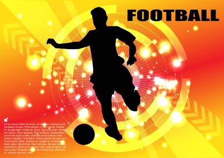 soccer player technical background  Vector