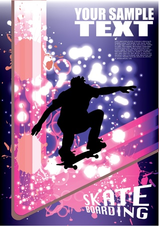 skateboard abstract background  Vector