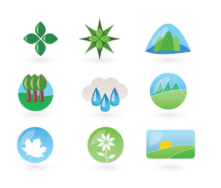 icons inspired by nature  Vector