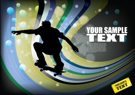 grungy header: skateboard abstract background