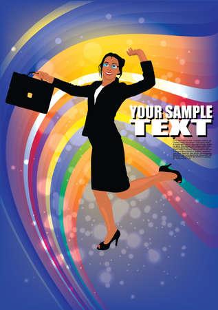 happy businesswoman  Vector