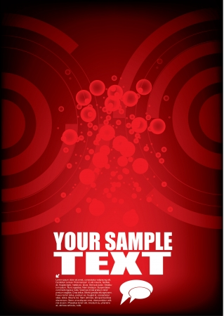 red technical design  Stock Vector - 14005773