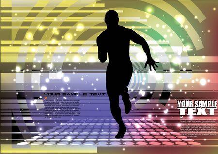 muscular control: running man background