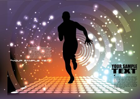 control of body movement: running man background