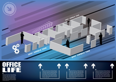 office plan: business floor concept