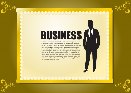 businessman in decorative frame  Vector