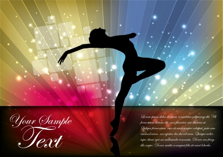 magic ballet dancer background  Vector