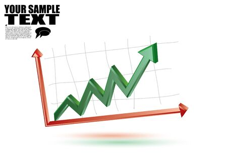 3d business chart  Stock Vector - 14154426