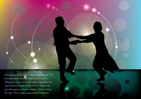 line dance: dancing couple background