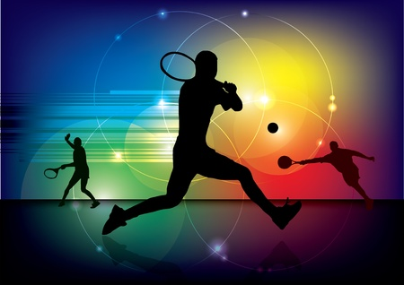 futuristic tennis background