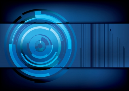 technology blue background  Vector