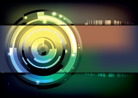 tech ring background  Vector