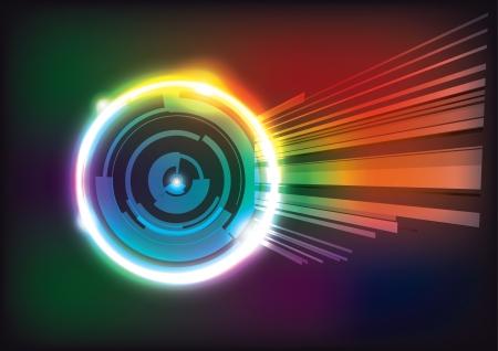 sucher: tech ring Hintergrund Illustration